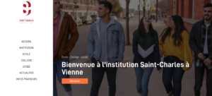 Nouvelle page d'acceuil ISC Saint-Charles